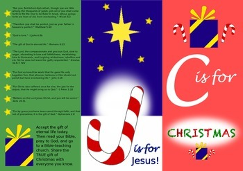 image relating to Printable Gospel Tract called Xmas Gospel Tract