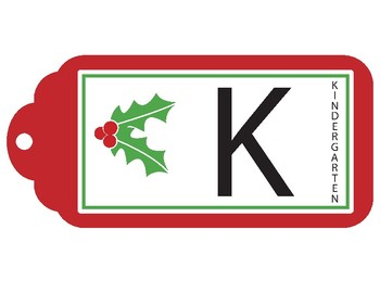 Christmas Grade Level Signs