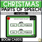 Christmas Grammar BOOM CARDS: Parts of Speech