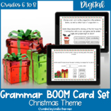 Christmas Grammar BOOM Cards for Digital Learning and Dist