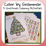 Christmas Grammar Coloring Worksheets