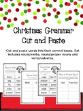 Christmas Grammar Cut and Paste - Common and proper nouns,