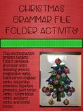 Christmas Grammar File Folder Activity