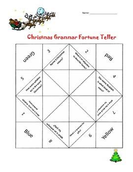 Christmas Grammar Fortune teller