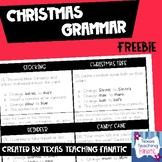 Christmas Grammar Freebie