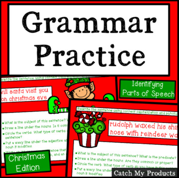 Christmas Grammar Groomers for Promethean Board Use
