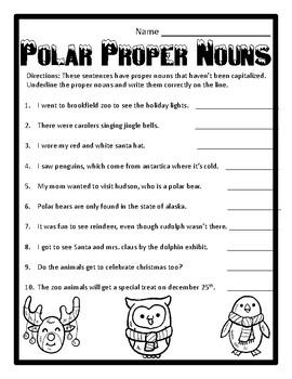 Christmas Grammar Proper Nouns Winter Grammar Proper Nouns Christmas Proper Noun