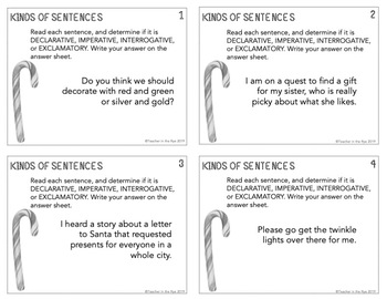 Christmas Holiday Grammar Review Task Cards for Middle School {CCSS}
