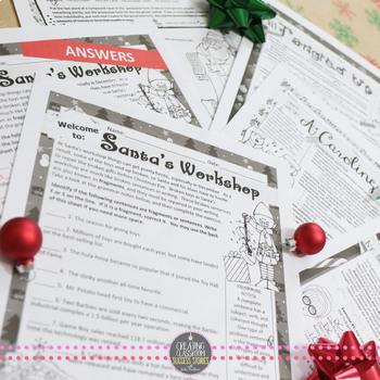 christmas grammar worksheets no prep middle and high school by julie faulkner. Black Bedroom Furniture Sets. Home Design Ideas