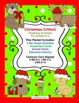 Christmas Graph- Christmas Critters Common Core Aligned