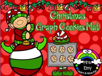Christmas Graph Cookies Mat