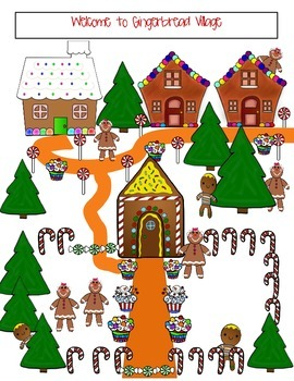 Christmas Graph/ Gingerbread Village