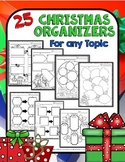 Christmas: Graphic Organizers for Writing, Reading, or Any