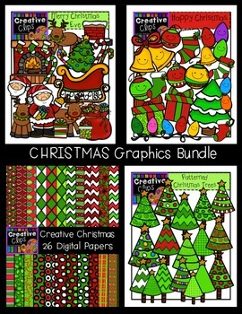 Christmas Clipart Graphics Bundle {Creative Clips Clipart}