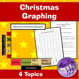 Christmas Graphing Activities- Whole Class Graphs, Worksheets & Questions