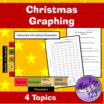 Christmas Graphing Activities- Whole Class Graphs, Workshe