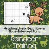 Christmas Graphing - Reindeer Training - Slope Intercept Equations Worksheet