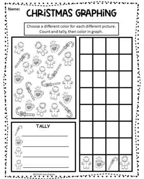 Christmas Graphing including Spin & Graph