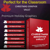 500 plus Christmas Graphix for TPT Sellers / Teachers & Yo