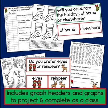 Christmas Graphs (Horizontal, Vertical and Pictograph learning fun!)