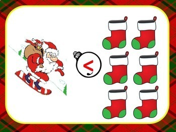 Christmas Comparing Numbers to 12 (Great Smartboard Activity!)