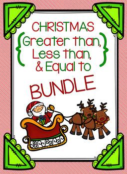 Christmas Greater Than, Less Than, and Equal To Bundle