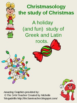 Christmas Greek roots (prefix and suffix) activity-Christmasology