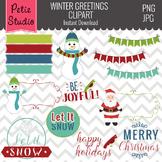 Christmas Greetings // Christmas Digital Frames // Holiday Greetings - Winter110