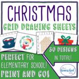 Christmas Grid Drawing Set - Elementary and Homeschool