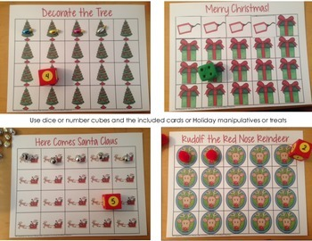 Christmas Grid Games - set of four