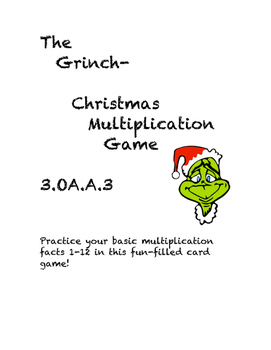 Christmas Grinch Multiplication Game