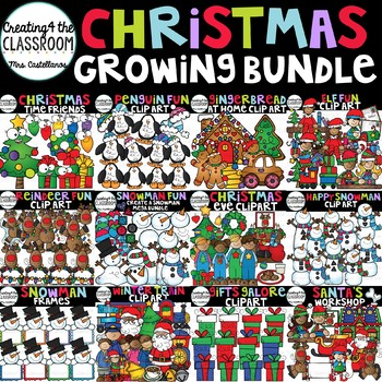 Christmas Clip Art Growing Bundle {Christmas Clip Art}