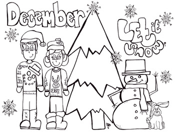 Christmas - Growing Bundle  -Coloring pages