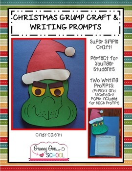 Christmas Grump Craft and Writing Propmts