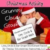 Christmas Line Circle Bar Graphs Math Worksheet Packet
