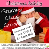 Christmas Lines Circles Bar Interpretation Graphs Grumpy Claus Math Worksheets