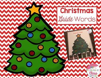 Christmas Guide Word Freebie!