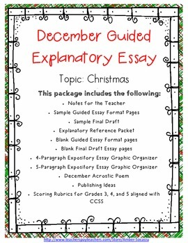 christmas essay 8th grade expository Grade 9 sausd 9/11 strat expository (strategic)-section 3 4 of 40 in order to make the task of writing an expository essay less imposing, remind students that they.