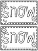 Snow Guided Reading Book