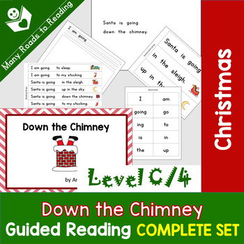 Christmas Guided Reading Book COMPLETE SET, Level C/4: Down the Chimney