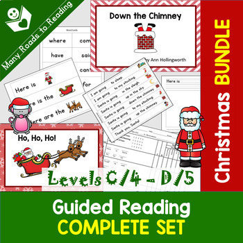 Christmas Guided Reading COMPLETE {books, word work, writing} Set BUNDLE: PreK-1