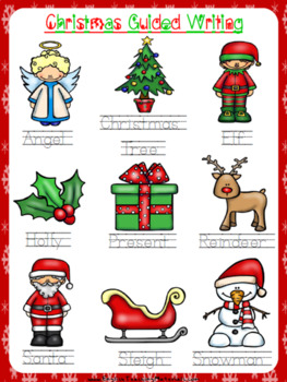 Christmas Guided Writing Worksheet | Free/Freebie