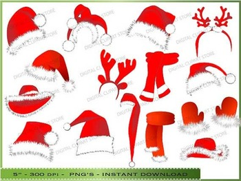 Christmas HATS ClipArt