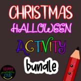 Christmas Halloween Activity Bundle Kindergarten/Grade 1
