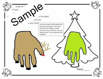 Christmas Hand Craft activities in Eng and Spanish