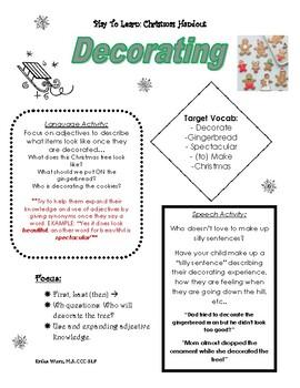 Christmas Handout for Parents