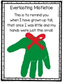 Christmas Mistletoe Handprint Poem
