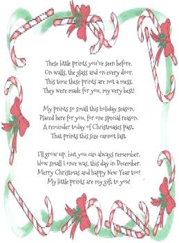 Christmas Handprint poem
