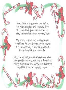 Christmas Handprint poem
