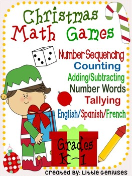 Christmas Hands-On Math Games for Kindergarten and Grade 1